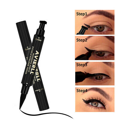 AVIERLL Black Eyeliner Seal Eye Liner Stamp Double Head Makeup Tool Waterproof S