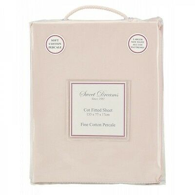 Sweet Dreams COT FITTED SHEET PINK