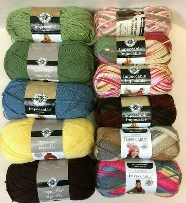 Impeccable Loops & Thread Yarn- 10 color choices~soft medium weight yarn