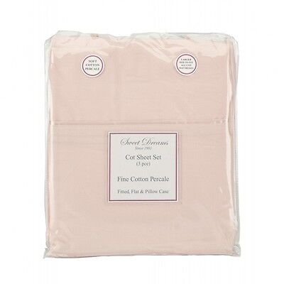 Sweet Dreams PINK COT SHEET SET