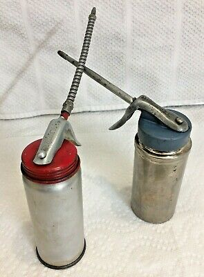 Vintage GodenRod And Unknown Brand Oil Cans Pump Oilers Made in USA