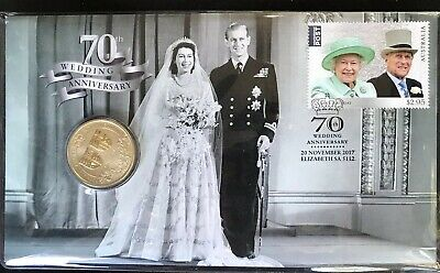 AUSTRALIA 2017 WEDDING 70th ANNIVERSARY PNC UNCIRC $1 COIN Limited Edition 7500