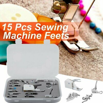 Sewing machine presser walking feet foot kit set of 15X brother Janome Singer TO