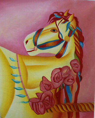 Canvas Modern Handpainted Animals Horses Abstract Oil Painting Art Wall Decor
