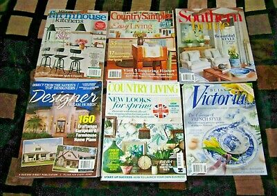 MIXED LOT OF 6 Home Design Decorating MAGAZINEs 2019 Brand ...
