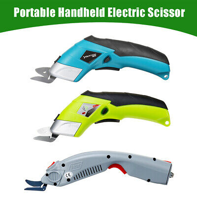 Portable Electric Scissor Cutter Cutting Cordless +2 Blades Simplicity Household