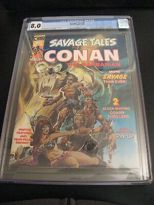 Savage Tales #2 Cgc 8.5 Red Nails Adaptation Begins Conan King Kull White Pages Collectibles
