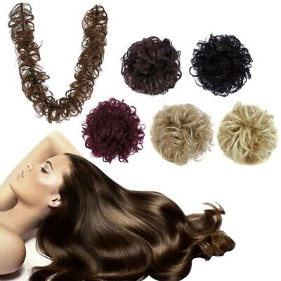 Large Wrap On Messy Curly Ponytail Hair Piece Chignon Updo Hair Extension Great