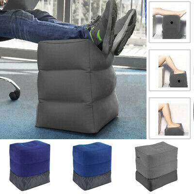 Inflatable Travel Foot Rest Footrest Pillow Reduce Risk on Flights Useful
