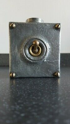Walsall Vintage Cast Iron Industrial Light Switch 0ne 1 Gang Salvaged Reclaimed