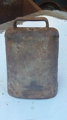 VINTAGE COW BELL STAMPED  R&E MFG CO. NY. 3 ... ding ding