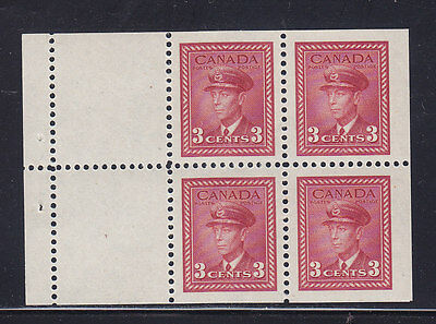 1942 War Issue, 3c Booklet Pane, Scott 251a, MNH, Lot 6718