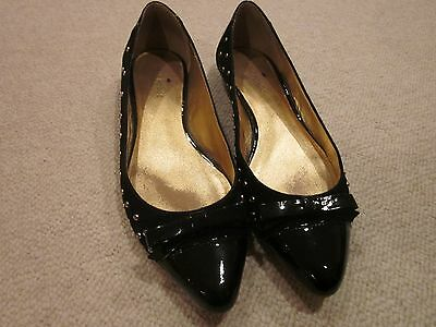 1e8e8081903b Kate Spade Black Flats Patent Leather   Suede With Rhinestones Shoes Size  7.5M w