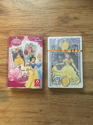 Disney Princess Happy Families Game Cards With Stickers New