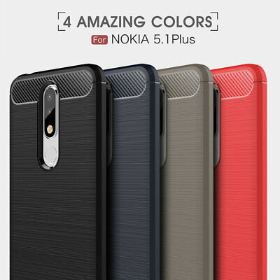 Heavy Duty Shockproof Carbon Fiber Case Cover For Nokia 5.1/7.1/3.1 Plus 1 2 3 5