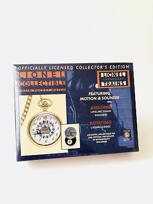 Lionel Trains Collectible Train Pocket Watch 1998 Factory Sealed Box