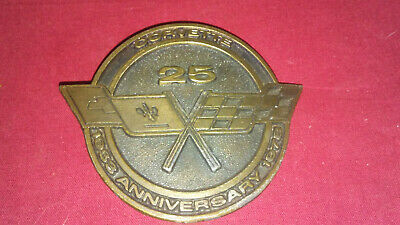 1978 Chevy Corvette 25Th Anniversary Brass Belt Buckle Gm Collectible Gift Vette