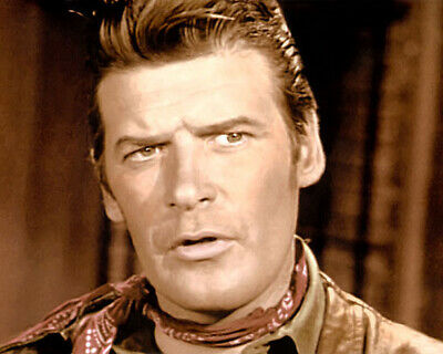 """PETER BRECK NICK BARKLEY THE BIG VALLEY 1960S 8x10"""" HAND COLOR TINTED PHOTO"""