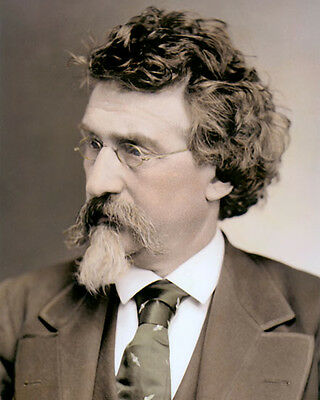 "MATHEW BRADY 1875 CIVIL WAR PHOTOGRAPHER 8x10"" HAND COLOR TINTED PHOTOGRAPH"
