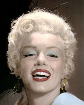 """MARILYN MONROE THE RIVER OF NO RETURN 1954 8x10"""" HAND COLOR TINTED PHOTOGRAPH"""