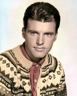 "RICKY NELSON HOLLYWOOD ACTOR SINGER SONGWRITER 8x10"" HAND COLOR TINTED PHOTO"