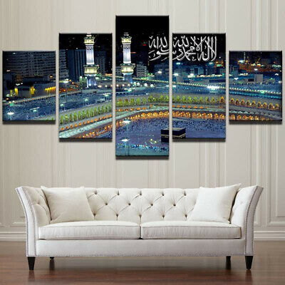 Framed Islamic Mosque Castle Canvas Poster Print Painting Wall Art Home Decor