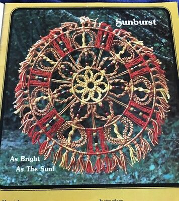 Fantastic Fun And Fancy Vintage 18 Pg Macrame Instructions Purses, Wall Hangings
