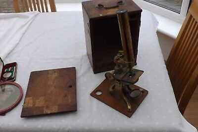 RECENT HOUSE FIND A CASED VICTORIAN MICROSCOPE CIRCA 1870s