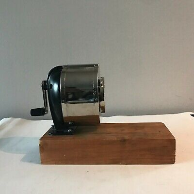 X-Acto KS Mechanical Pencil Sharpener Wall or Table Mount Chrome & Black Unused