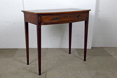 George III Period Mahogany Bow Front Side Table