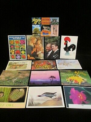 14 Vintage  Postcards:President Reagan, Cowboys, Birds, Arizona, Flowers, Museum