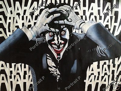 Batman Joker Oil Painting DC Comics Hand-Painted Art  Canvas NOT Print Poster #c
