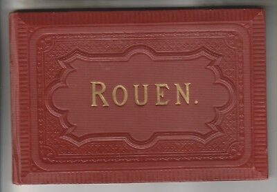 CIRCA 1910s BOOKLET - 14 FOLDOUT VIEWS - ROUEN FRANCE