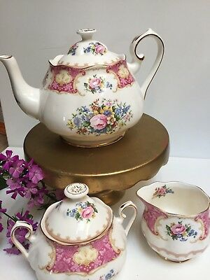 Tea/Coffee Set Teapot Royal Albert Lady Carlyle Excellent