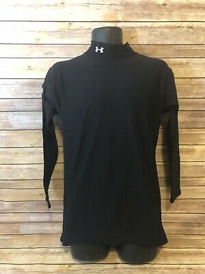 4e5e36bb4 Under Armour Long Sleeve Shirt Size 2XL Mens Black Cold Gear Top Base Layer  Top