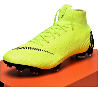new styles 1a4ed a7a25 NIKE MERCURIAL SUPERFLY 6 PRO FG - New Men s Women s Soccer Cleats Volt  Black