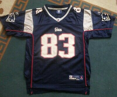 68efd426757 vtg NEW ENGLAND PATRIOTS wes welker REEBOK JERSEY YOUTH LARGE USED NFL  FOOTBALL