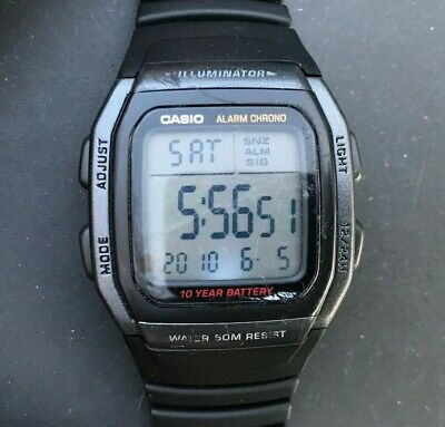 CASIO W-96H (3239) Illuminator Watch Alarm Chronograph 34mm case