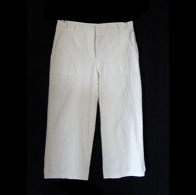 COLDWATER CREEK Cropped Pants White Stretch Cotton Mid Rise Jean Style Capris 6