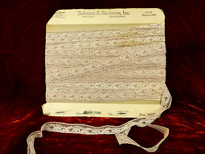 Trim Nude Color Vintage Condition 25 Yds 1950s Rare Net Embroidery Solomon Co