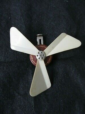 Rare Vintage LA BRISE Celluloid hand held compact mechanical fan, working order