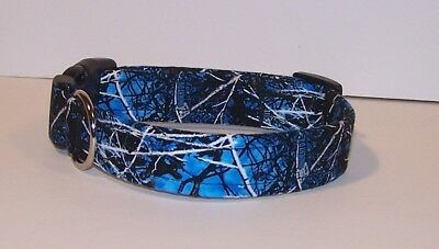 Wet Nose Designs Undertow Camouflage Dog Collar Lifestyle Camo Blue Black Gray
