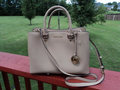 fb420cb157322 Authentic Michael Kors Savannah Large Satchel Leather Oyster Gift Receipt  NWT