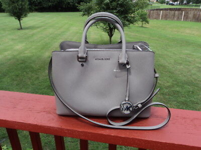 ca1972de31825 Authentic Michael Kors Savannah Large Satchel Leather Pearl Grey Gift  Receipt