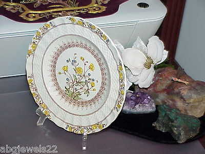 "Spode Buttercup Plate 7.5"" England Vintg Old Spode Mark Bright Color Antique"