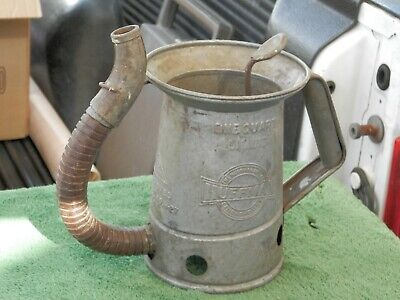 Vintage Huffman Gas Station Oil Can 1 Quart With Spout Dayton Ohio