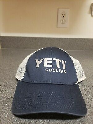 9663b133 Yeti Coolers Brand Trucker Hat Cap Mesh SnapBack Camping Tailgate Party Blue