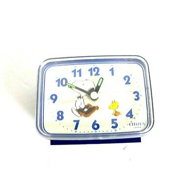 Rare Vintage Peanuts Snoopy Woodstock Alarm Clock Citizen Made in Japan *READ*