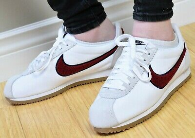 brand new b10a8 21c5a NIKE WMNS CLASSIC CORTEZ PREM - New Women s Premium Sneakers Red White Shoes