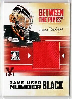 Jordan Binnington 15-16 Itg Final Vault 10-11 Between The Pipes Number 1/1